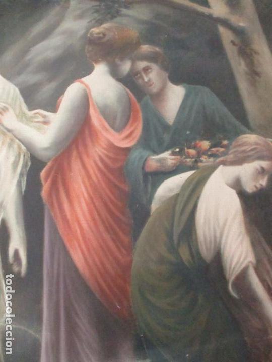 Arte: Óleo sobre Tela - Diana Cazadora - Escena Clásica - 180 cm Ancho, 133,5 Altura - S. XIX - Foto 14 - 137610538