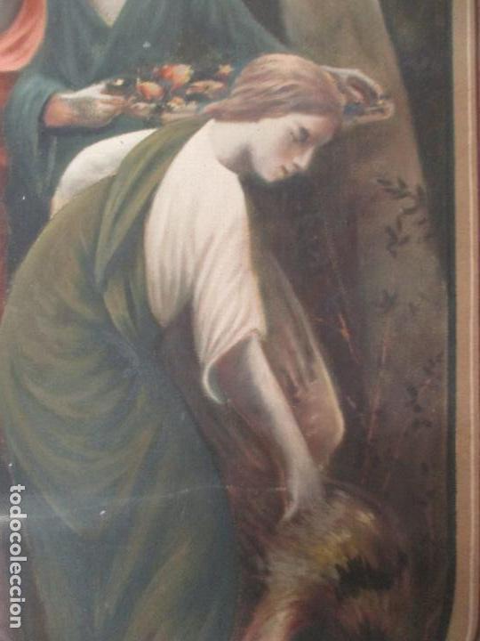 Arte: Óleo sobre Tela - Diana Cazadora - Escena Clásica - 180 cm Ancho, 133,5 Altura - S. XIX - Foto 15 - 137610538