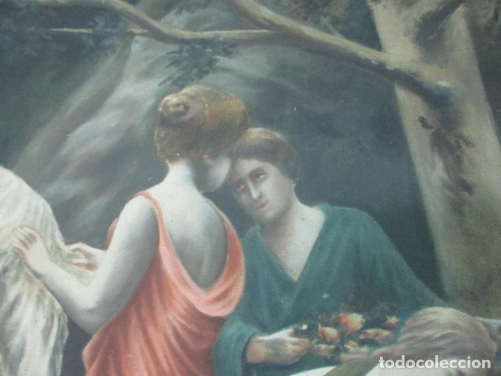Arte: Óleo sobre Tela - Diana Cazadora - Escena Clásica - 180 cm Ancho, 133,5 Altura - S. XIX - Foto 16 - 137610538