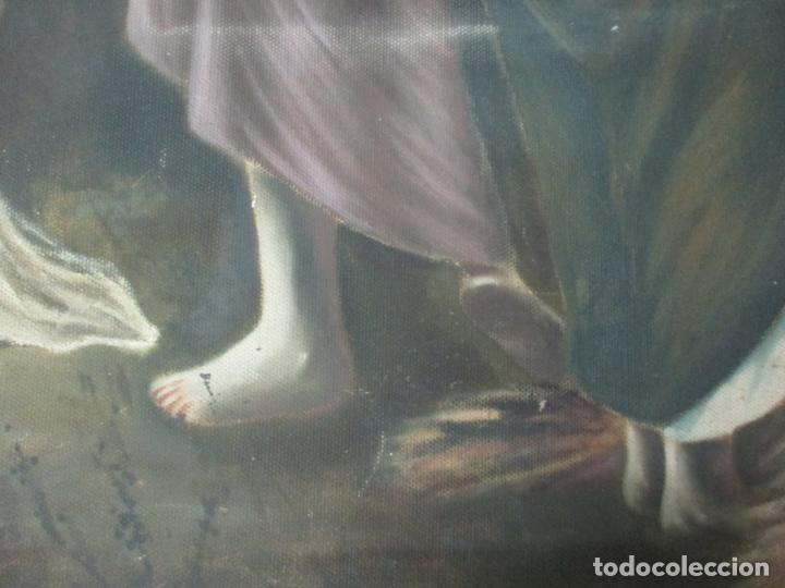 Arte: Óleo sobre Tela - Diana Cazadora - Escena Clásica - 180 cm Ancho, 133,5 Altura - S. XIX - Foto 17 - 137610538