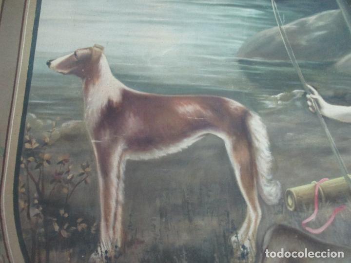 Arte: Óleo sobre Tela - Diana Cazadora - Escena Clásica - 180 cm Ancho, 133,5 Altura - S. XIX - Foto 18 - 137610538