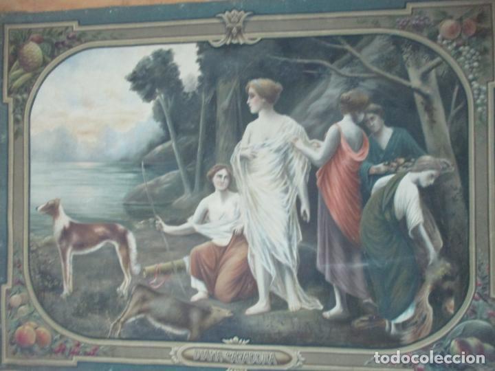 Arte: Óleo sobre Tela - Diana Cazadora - Escena Clásica - 180 cm Ancho, 133,5 Altura - S. XIX - Foto 20 - 137610538