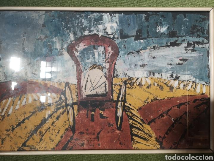 IMPORTANTE OBRA ANÓNIMA, ACRILICO SOBRE PAPEL/CARTÓN, MUY BIEN ENMARCADO 60X40CM. PARA ANALIZAR. (Arte - Pintura - Pintura al Óleo Contemporánea )