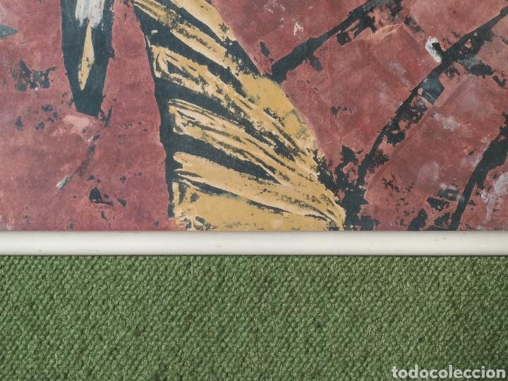 Arte: IMPORTANTE OBRA ANÓNIMA, ACRILICO SOBRE PAPEL/CARTÓN, MUY BIEN ENMARCADO 60x40cm. Para analizar. - Foto 4 - 137636281