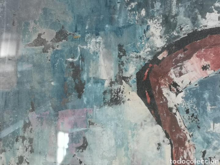Arte: IMPORTANTE OBRA ANÓNIMA, ACRILICO SOBRE PAPEL/CARTÓN, MUY BIEN ENMARCADO 60x40cm. Para analizar. - Foto 5 - 137636281