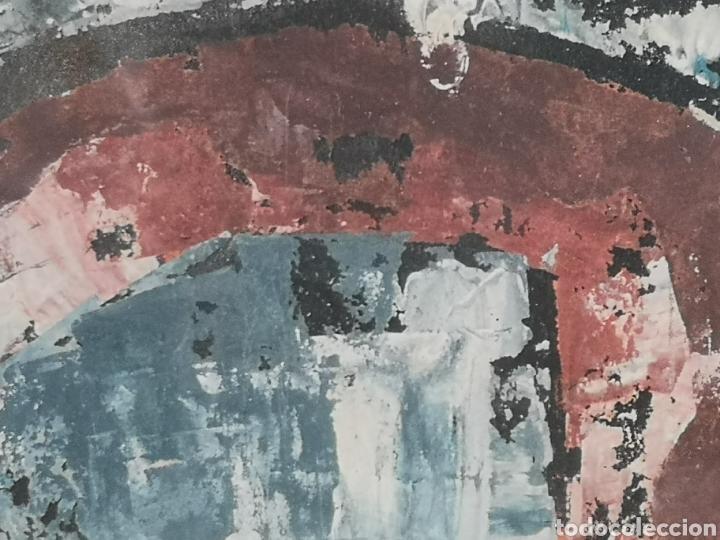 Arte: IMPORTANTE OBRA ANÓNIMA, ACRILICO SOBRE PAPEL/CARTÓN, MUY BIEN ENMARCADO 60x40cm. Para analizar. - Foto 7 - 137636281
