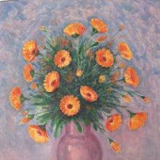 Arte: ANTONIO CERNUDA JUAN (1921-) BODEGÓN DE FLORES, 63X50CM SIN CONTAR MARCO. Lote 175929408
