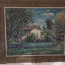 Arte: PAISAJE Y CASA DE CAMPO DE JOAQUIM MARSILLACH I CODONY. Lote 137643374