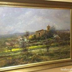 Arte: PAISAJE CON UNA BONITA GAMA DE COLORES DE RAMÓN DE CAPMANY I DE MONTANER. Lote 137648026