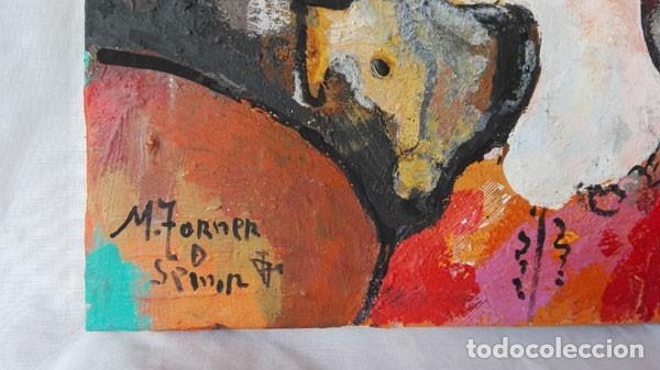 Arte: TORNER DE SEMIR - TÉCNICA MIXTA SOBRE TELA CON COLLAGE - 33 CM X 40 CM - CON CERTIFICADO DEL AUTOR - Foto 2 - 137648718