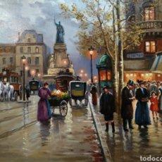 Arte: PRECIOSO OLEO DE FRANCESC TORNERÓ. BOULEVARD PARIS. Lote 137650938