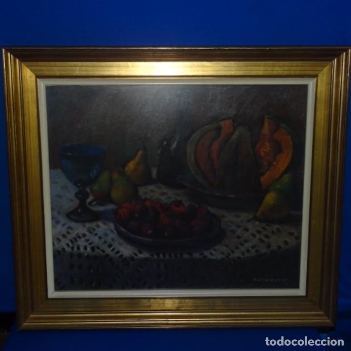 Arte: Óleo de José Antonio lozano guerrero(Yeste 1919-2014).excelente obra. - Foto 2 - 137674502