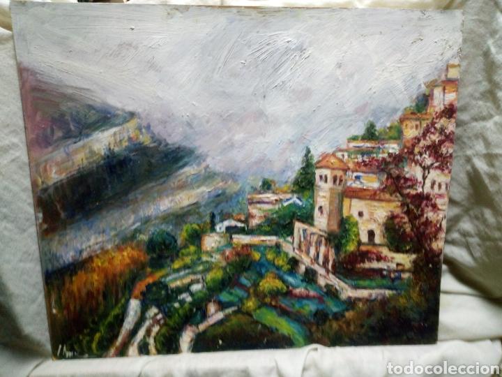 MONASTERIO JUNTO A LA MONTAÑA (Arte - Pintura Directa del Autor)