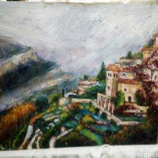 Arte: MONASTERIO JUNTO A LA MONTAÑA. Lote 137679178