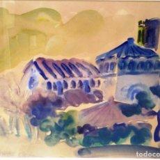 Arte: GUSTAVO PEÑALVER ACUARELA . Lote 137737502