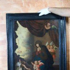 Arte: CUADRO OLEO VIRGEN DOLOROSA FIRMADO Y FECHADO 1638. Lote 137741210