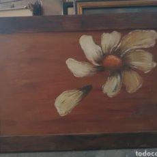 Arte: PETALO DE MARGARITA, INTERESANTE PINTURA AL OLEO SOBRE TABLA, FIRMADA A.VILLA 71X49CM. Lote 137749221