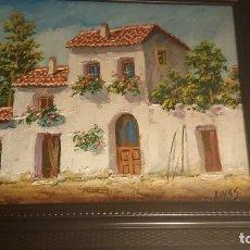 Arte: PAREJA ÓLEOS SOBRE LIENZO RIVAS. Lote 113149943