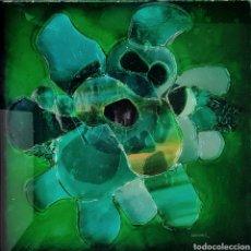 Arte: ANTHONY KRIKHAAR (DANISH 1940) PRECIOSA OBRA ORIGINAL COLLAGE CON CRISTALES, FIRMADA.. Lote 137857642
