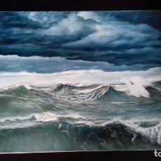 Arte: ALTA MAR RIZADA II. MARINA. 55X33.. Lote 137867954
