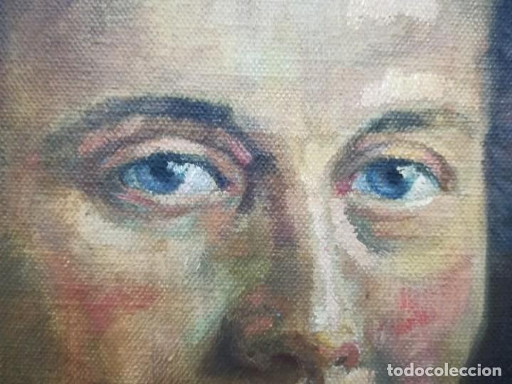 Arte: PINTURA DE RETRATO ATRIBUIDO A JOSE ANTONIO ´¨PRIMO DE RIVERA¨ FIRMA ILEGEGIBLE POR MI - Foto 3 - 137886938