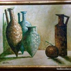 Arte: BODEGÓN CON JARRONES FIRMADO BASTIAN. Lote 137891026