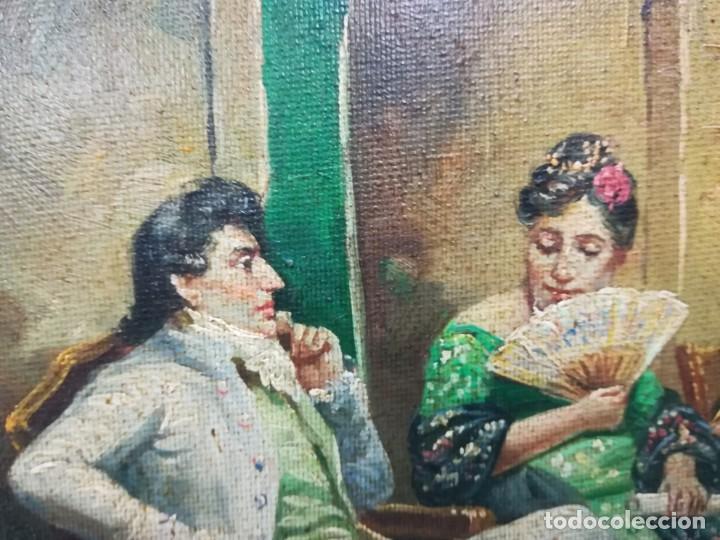Arte: ENSAYO EN EL TEATRO, CUADRO DE MITAD DEL S.XX, FIRMA ILEGIBLE POR MI - Foto 6 - 137895338