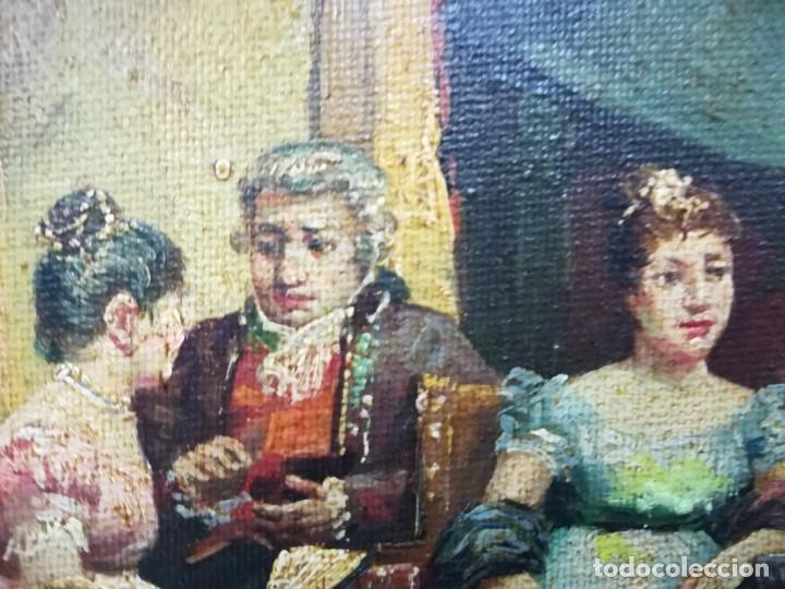 Arte: ENSAYO EN EL TEATRO, CUADRO DE MITAD DEL S.XX, FIRMA ILEGIBLE POR MI - Foto 7 - 137895338