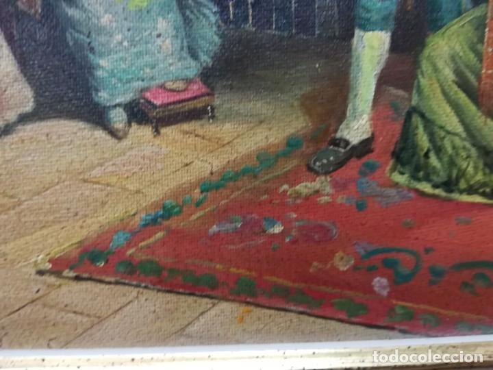 Arte: ENSAYO EN EL TEATRO, CUADRO DE MITAD DEL S.XX, FIRMA ILEGIBLE POR MI - Foto 10 - 137895338