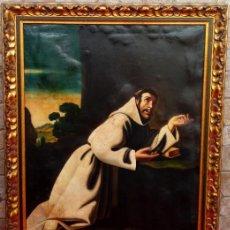 Arte: ÓLEO S/LIENZO -SAN FRANCISCO EN ORACIÓN- S. XVII. ESCUELA ZURBARÁN. DIM.-113.5X84.5 CMS. Lote 137936314