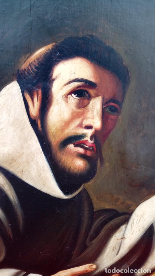 Arte: ÓLEO S/LIENZO -SAN FRANCISCO EN ORACIÓN- S. XVII. ESCUELA ZURBARÁN. DIM.-113.5X84.5 CMS - Foto 3 - 137936314