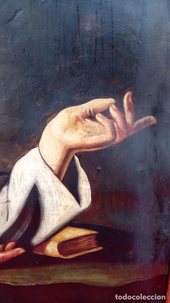Arte: ÓLEO S/LIENZO -SAN FRANCISCO EN ORACIÓN- S. XVII. ESCUELA ZURBARÁN. DIM.-113.5X84.5 CMS - Foto 4 - 137936314