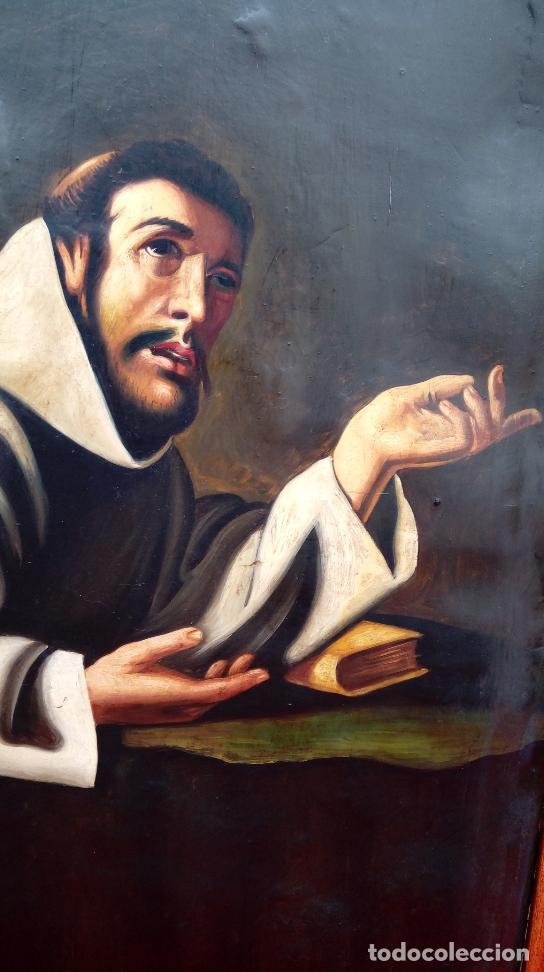 Arte: ÓLEO S/LIENZO -SAN FRANCISCO EN ORACIÓN- S. XVII. ESCUELA ZURBARÁN. DIM.-113.5X84.5 CMS - Foto 6 - 137936314
