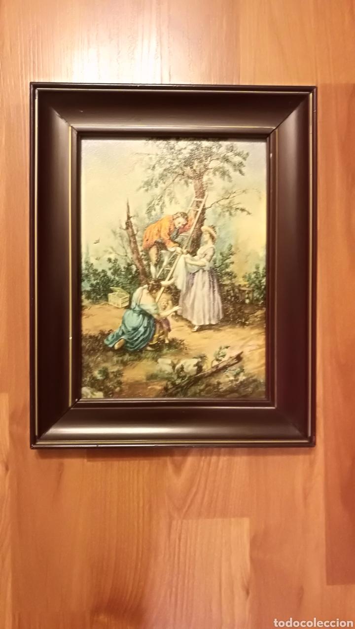 Arte: Antiguo cuadro marco de madera - Foto 2 - 137938830