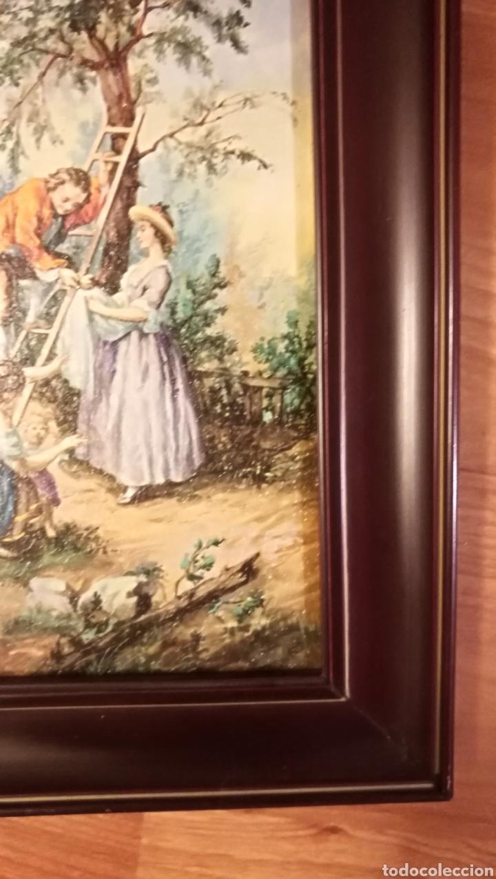 Arte: Antiguo cuadro marco de madera - Foto 3 - 137938830