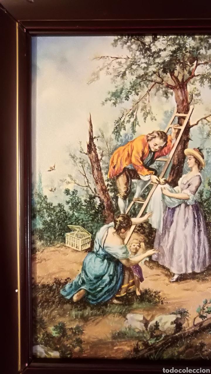 Arte: Antiguo cuadro marco de madera - Foto 5 - 137938830