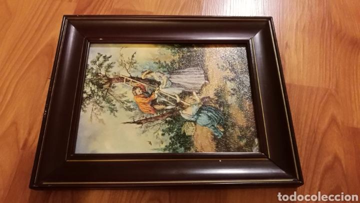 Arte: Antiguo cuadro marco de madera - Foto 6 - 137938830