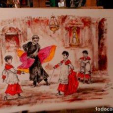 Arte: LOS MONAGUILLOS CON EL MAESTRO. Lote 137947610