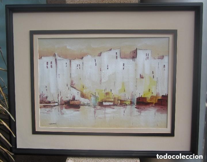 Arte: Maravilloso antiguo oleo marino sobre catón - Foto 3 - 137984706