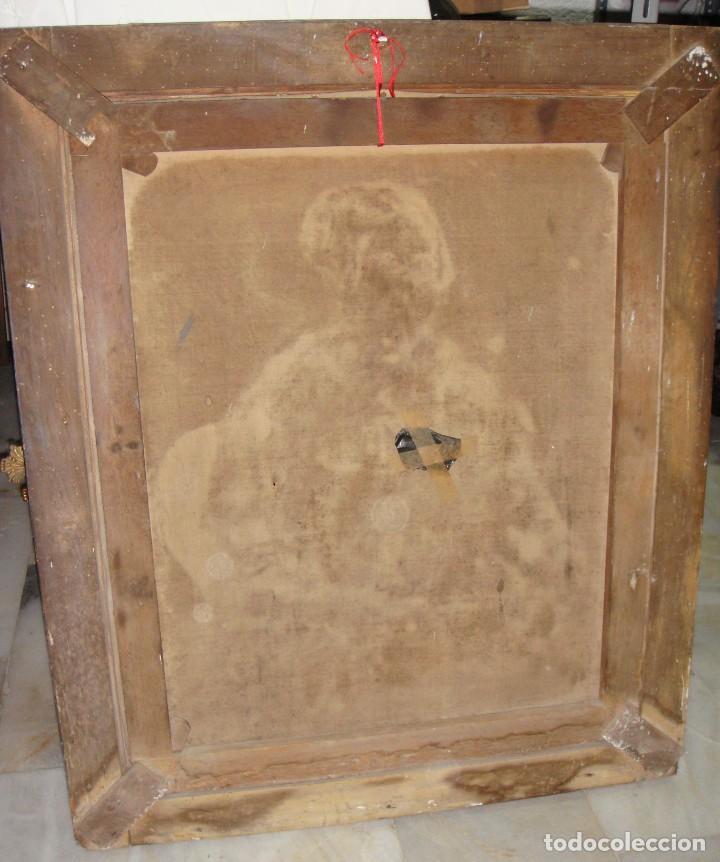 Arte: Oleo sobre lienzo. S.XIX. Retrato de Señora de la Burguesía Gaditana. Vestida de época. Gran tamaño. - Foto 9 - 212746028