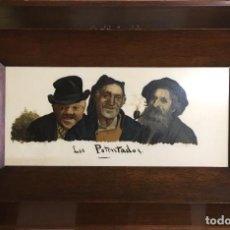 Arte: LOS POTENTADOS DE JOSÉ ESTRUCH.OLEO SOBRE OPALINA. Lote 138027718