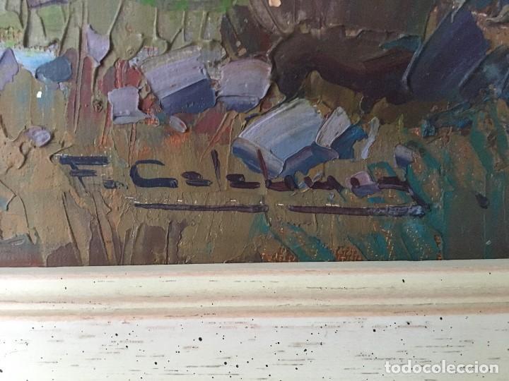 Arte: Paisaje con pueblo de Fransesc Calabuig, con certificado de autenticidad - Foto 2 - 138059750