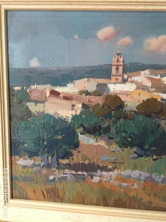 Arte: Paisaje con pueblo de Fransesc Calabuig, con certificado de autenticidad - Foto 3 - 138059750