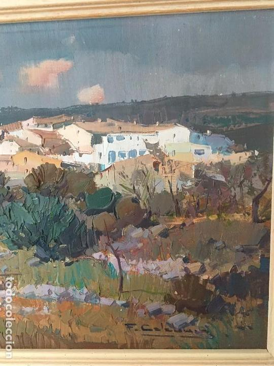 Arte: Paisaje con pueblo de Fransesc Calabuig, con certificado de autenticidad - Foto 4 - 138059750