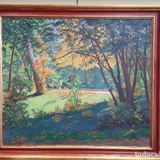 Arte: ANTONIO MAFFEI CARBALLO, (LA HABANA 1885-VALLADOLID 1961). EL CAMPO GRANDE, VALLADOLID. Ó/LIENZO.. Lote 121563567