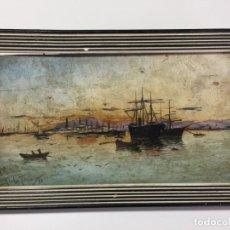 Arte: ANTONIO DE LA TORRE Y LÓPEZ , MÁLAGA , ÓLEO SOBRE TABLA DE 1888 . S. XIX. Lote 138108262