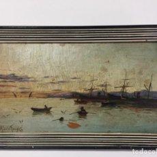 Arte: ANTONIO DE LA TORRE Y LÓPEZ , MÁLAGA , ÓLEO SOBRE TABLA DE 1888 . S. XIX. Lote 138108590
