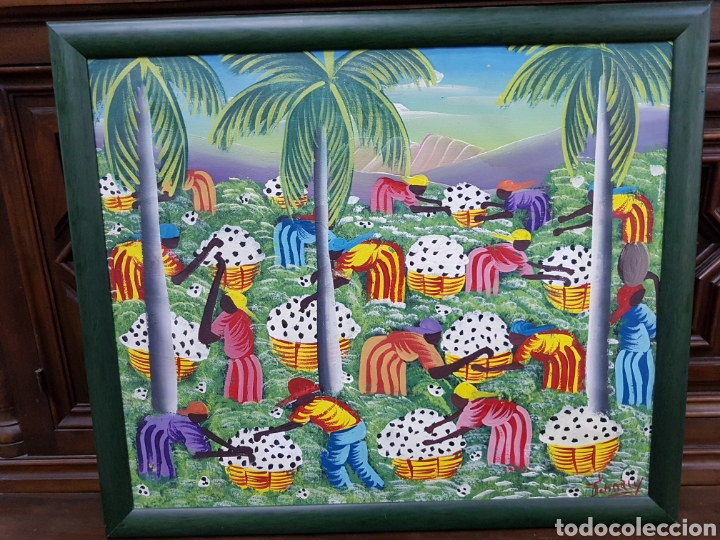 CUADRO AFRICANO FIRMADO (Arte - Pintura - Pintura al Óleo Contemporánea )