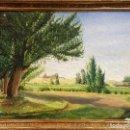 Arte: R. DE BLAS (1910-1975). EL CABILDO. ÓLEO SOBRE LIENZO. FIRMADO POR EL AUTOR.. Lote 138124422