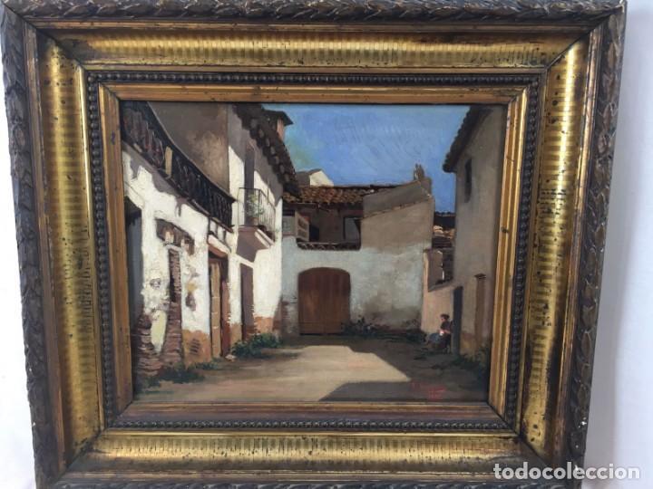 PAISAJE - RICARDO BRUGADA PANIZO - OLEO SOBRE TELA- 1882 (Arte - Pintura - Pintura al Óleo Moderna siglo XIX)